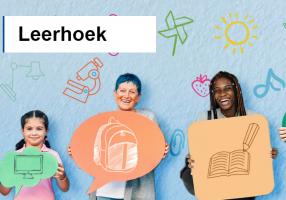 screenshot of Learning corner: children with pancartes